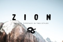 Zion | An Eroded Grunge Font Product Image 1