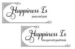 The Happiness Sign Bundle Svg Cut Files Product Image 2