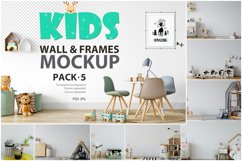 Kids Frames & Wall Mockup Bundle - 5 Product Image 1