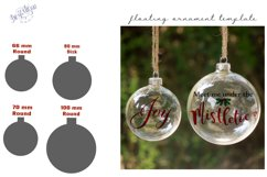 Floating Ornament Template inserts SVG DXF and PSD format Product Image 1