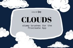 Clouds Procreate Stamp Brush Product Image 1