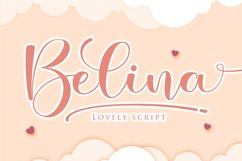Belina - A Script Fonts with Swash Product Image 1