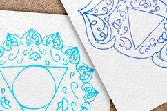 Watercolor chakras clipart 7 chakras set Yoga Meditation Product Image 6