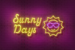 Sunset Club Script Neon Font Product Image 4
