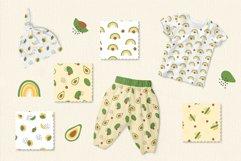 Avocado and Rainbow Seamless Patterns, Nursery Digital Paper Product Image 5