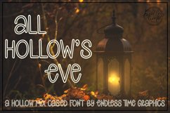 All Hollow's Eve - A Spooky Hollow Mix-Cased Font Product Image 1