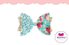 Scalloped Half Bow|Hair Bow SVG|Cricut Silhouette Bow Product Image 5
