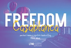 FREEDOM Casablanca font duo Product Image 1