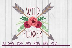 Flowers With Arrows SVG, DXF File, Cuttable File Product Image 1