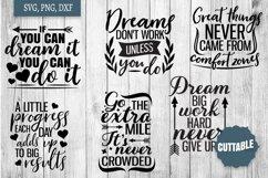 Motivational SVG bundle, Inspirational quote cut file bundle Product Image 2
