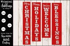 Vertical Christmas Sentiments Mini Bundle SVG Product Image 1