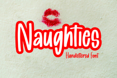 Web Font Naughties - Handlettered Font Product Image 1