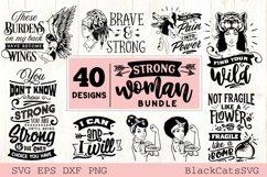 Strong woman SVG bundle 40 designs Product Image 1