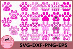Dog Paws Svg files, Silhouette Studio, Paws Svg, Paws Files Product Image 1