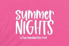 Summer Nights - A Fun Handwritten Font Product Image 1