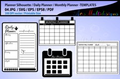 Daily Planner svg bundle/ monthly Planner printable template Product Image 1