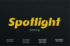 Spotlight - Sans Serif Font Family with optional Stencils Product Image 1