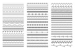Hand drawn doodle dividers. Abstract doodle lines, decorativ Product Image 1