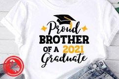 Proud Brother of a 2021Graduate svg Graduation cap Cricut Product Image 1