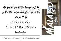Malabo - Creepy Font Product Image 2
