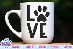 Pawprint Love SVG | Dog SVG | Dog Quotes SVG Product Image 1