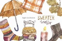 Fall Clipart Watercolor Autumn Cozy Painting Clip art Product Image 6