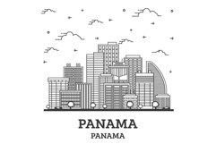 Outline Panama City Skyline Product Image 1