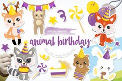 Woodland Birthday Graphics and illustrations, vecto Product Image 1