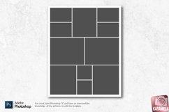 8x10 Photo Collage Photoshop Templates Product Image 3
