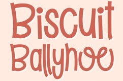 Biscuit Ballyhoo - A quirky handwritten font! Product Image 10