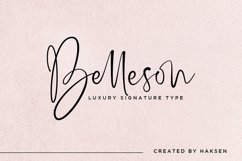 Belleson Luxury Script Type Product Image 1