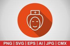 Vector Nurse Icon Product Image 1