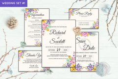 Wedding Invitation Set #1 Watercolor Floral Flower Style Product Image 1
