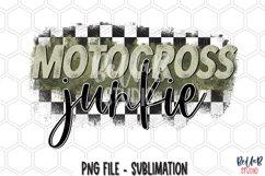 Motocross Junkie Sublimation Design Product Image 1