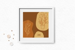 Hand-drawn boho clipart   Bohemian plants and flower clipart Product Image 2