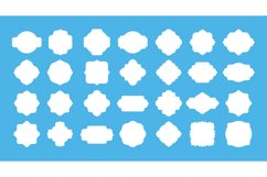 Blank frame label. Vintage empty badge shapes for text messa Product Image 1