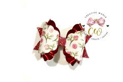New 2021 Hair Bow Digital Template | Bow Template |CWC166 Product Image 3