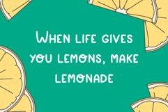 Simple playful font - Lemon Product Image 5