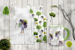 Hedgehog in the forest clipart and patterns Product Image 4