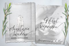 White Marble Calligraphy Font Product Image 3