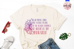 Beautiful girl you were - Women Empowerment EPS SVG DXF PNG Product Image 2