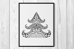 Christmas tree SVG. Merry Christmas Svg. Zentangle clipart. Product Image 4