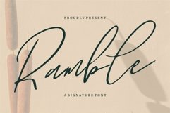 Web Font Ramble - A Signature Font Product Image 1