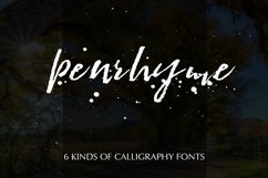 Penrhyme Calligraphy Font Product Image 1