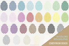 Chevron Easter Egg Vector / Clip Art Product Image 1