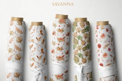 Savanna dried flowers and leaves Watercolor Product Image 6