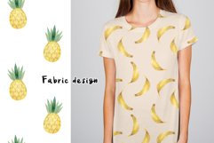 Watercolor Fruits. Patterns, Clipart Product Image 7