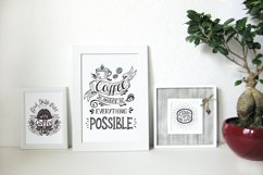 Set of Banners with coffee quotes. Product Image 4
