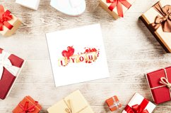 Watercolor valentine clipart, Cute valentine's cards DIY Product Image 2