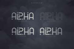 Alpha Display Font - 4 styles Product Image 2